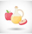 apple cider vinegar flat icon vector image vector image