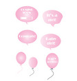 baby girl set - pink bubbles and balloons vector image