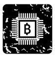 Bank icon grunge style vector image