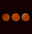 basketball design set symbol vector image vector image