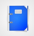blue folder vector image vector image