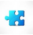 blue puzzle vector image