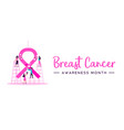 breast cancer awareness month women charity banner vector image vector image
