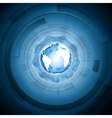 Bright technology blue background vector image