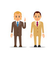 business man businessman stand and raising his vector image vector image
