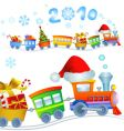 Christmas train 2010 vector image vector image