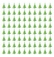 christmas tree pattern green vector image