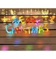 Christmas wood color background vector image vector image