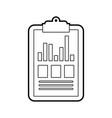 clipboard business graph checklist report vector image