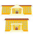 color of school buildings vector image