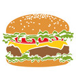 colorful pictogram icon burger vector image