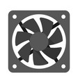 computer cooler flat vector image vector image