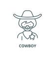 cowboy line icon linear concept outline vector image
