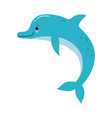 cute a funny pink dolphin jumping vector image vector image