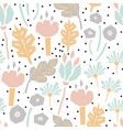 cutout paper flower seamless pattern vector image vector image