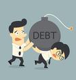 debt vector image vector image