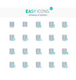 easy icons 21e database vector image vector image