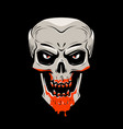 evil skull and blood halloween zombie undead vector image vector image