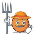 farmer cookies character cartoon style vector image vector image