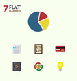 flat icon incoming set of graph counter vector image vector image