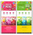 Flat style cocktail menu concept Web site design vector image vector image