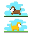 Funny Dog Sky Background Concept Flat Design vector image vector image