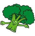 Green Cartoon Broccoli vector image vector image