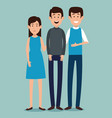 group of people characters vector image vector image