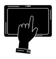hand human with tablet vector image vector image