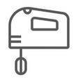 hand mixer line icon electric and kitchen vector image vector image