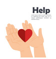 Hands with heart help
