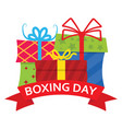 happy boxing day sale vector image vector image