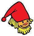 Head gnome vector image