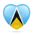Heart icon of Saint Lucia vector image vector image