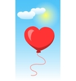 Heart Shape Of Baloon on Blue Sky and White Clouds vector image vector image