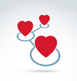 Hearts and connections icon Online Dating vector image vector image