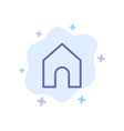 home instagram interface blue icon on abstract vector image vector image