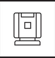 humidifier air ionizers purifier linear icon vector image