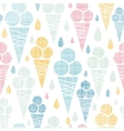 Ice cream cones textile colorful seamless pattern vector image vector image