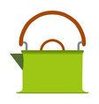 kettle tea icon coffee teapot background drink vector image vector image