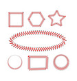 lace from a baseball on a white background vector image vector image