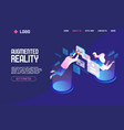 landing page concept with people flying and vector image vector image
