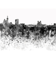 Marseilles skyline in black watercolor on white vector image vector image