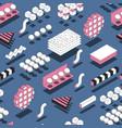 memphis geometric shapes seamless pattern vector image