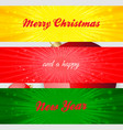 merry christmas and happy new year panels vector image vector image