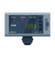 modern taximeter device electronic measurement vector image vector image