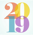 New years eve color 2019 numbers art
