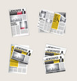 newspapers icons journalist collection reading vector image