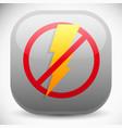 no electricity blackout icon vector image vector image