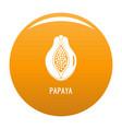 papaya icon orange vector image
